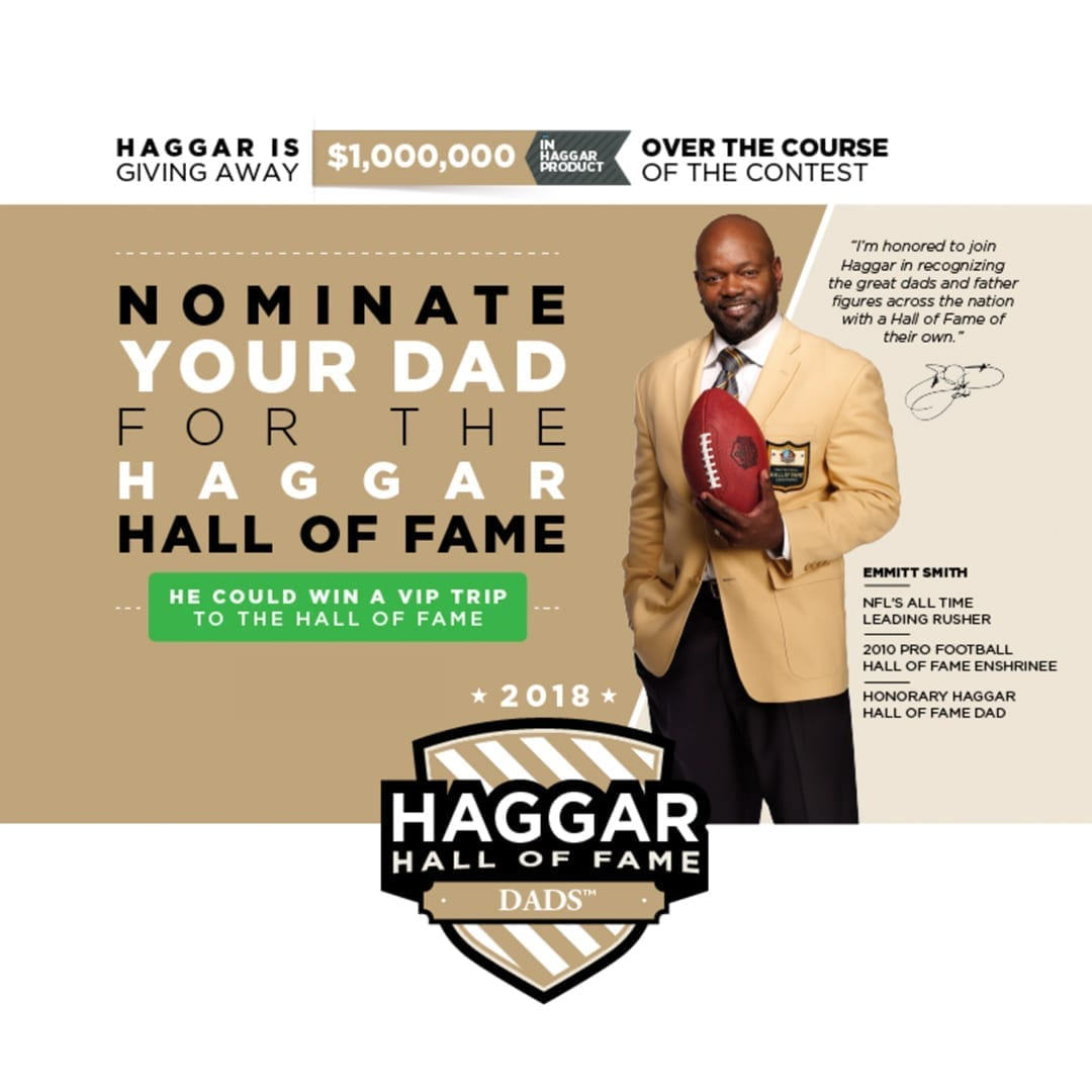 Haggar Hall of Fame Dads promotion managed by CFA